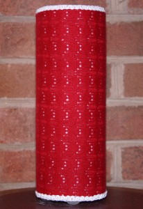 Red sweater lamp