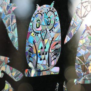 Bird Saver Prismatic Decals Set of 8 Bird Designs